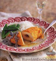 Фото к рецепту: Котлета по-киевски с грибным соусом
