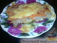 Фото к рецепту: Фарш под сыром, запеченный в духовке