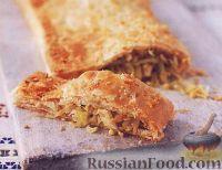 Фото к рецепту: Слоеный пирог с капустой и яйцами
