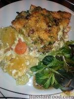 Фото к рецепту: Рыба на овощной подушке