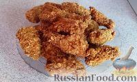 Фото к рецепту: Жареная курица с хрустящей корочкой