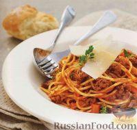Фото к рецепту: Спагетти с мясным соусом