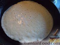 Фото приготовления рецепта: Простой рецепт блинов - шаг №12