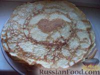 Фото приготовления рецепта: Простой рецепт блинов - шаг №14