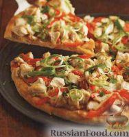 Фото к рецепту: Пицца с куриным филе