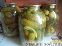 Фото к рецепту: Консервированные огурцы с горчицей
