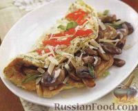 Фото к рецепту: Омлет с грибами