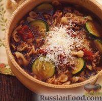 Фото к рецепту: Суп с фаршем и цуккини