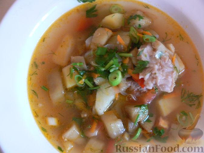 Фото приготовления рецепта: Суп с баклажанами - шаг №9