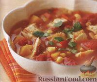 Фото к рецепту: Мексиканский куриный суп
