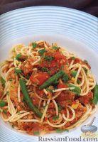 Фото к рецепту: Спагетти с овощами и мясом