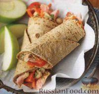 Фото к рецепту: Закусочные рулеты с овощами и тунцом