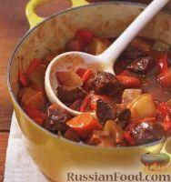 Фото к рецепту: Мясо, тушенное с овощами