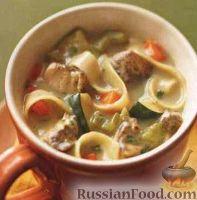 Фото к рецепту: Куриный суп с лапшой
