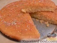 Фото к рецепту: Большой лимонный кекс