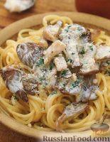 Фото к рецепту: Спагетти с грибным соусом