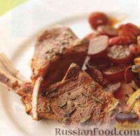 Фото к рецепту: Жареная баранина с виноградным соусом