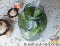 Фото приготовления рецепта: Консервированные огурчики на зиму - шаг №6