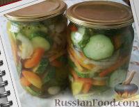 Фото к рецепту: Салат из огурцов и помидоров на зиму