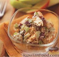 Фото к рецепту: Куриный салат с сельдереем и клюквой