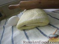 Фото к рецепту: Слоёное тесто бездрожжевое