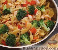 Фото к рецепту: Паста с куриным филе и брокколи
