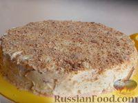 Фото к рецепту: Торт бисквитный с заварным кремом