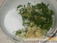 Фото приготовления рецепта: Жареные баклажаны с чесноком - шаг №6