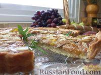 Фото к рецепту: Миндальный пирог с инжиром