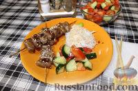 Фото к рецепту: Шашлычки Якитори из куриных сердечек (в русском исполнении)