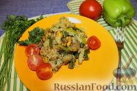 Фото к рецепту: Паэлья с рыбой и морепродуктами (экономичная)
