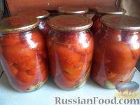 Фото к рецепту: Помидоры, консервированные дольками