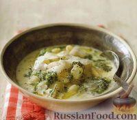 Фото к рецепту: Суп с пастой и соусом песто