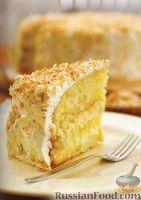 Фото к рецепту: Кокосовый торт
