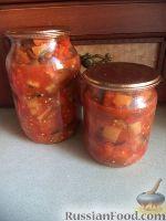 Фото к рецепту: Салат из баклажанов и помидоров