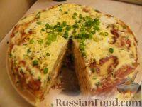 Фото к рецепту: Закусочный торт из кабачков