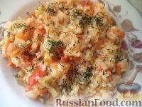 Фото к рецепту: Рисовая каша с овощами (в мультиварке)