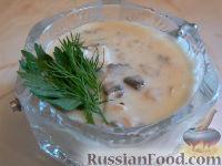 Фото к рецепту: Подлива из грибов и мяса (к любому гарниру)