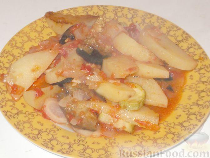 Баклажан кабачки картофель помидоры рецепт