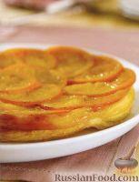 Фото к рецепту: Перевернутый слоеный пирог с апельсинами