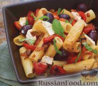 Фото к рецепту: Паста с козьим сыром и оливками