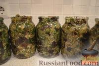 """Фото приготовления рецепта: Баклажаны """"как грибы"""" (с чесноком) на зиму - шаг №5"""