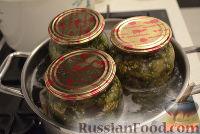 """Фото приготовления рецепта: Баклажаны """"как грибы"""" (с чесноком) на зиму - шаг №6"""