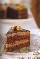 Фото к рецепту: Шоколадный торт с орехами