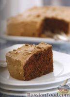 Фото к рецепту: Шоколадный пирог с яблоками