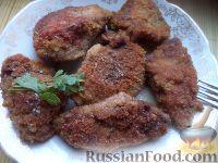 Фото к рецепту: Печень свиная жареная (панированная)