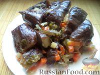 Фото к рецепту: Квашеные баклажаны с морковью и сельдереем