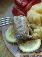Фото к рецепту: Запеченная скумбрия