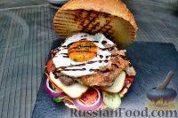 Фото к рецепту: Бургер с курицей