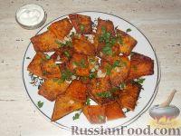Фото к рецепту: Жареная тыква с чесноком